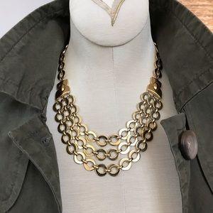 Statement Gold tone necklace 70's-80's vintage